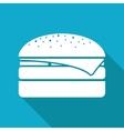 burger icon Eps10 vector image vector image