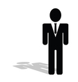 business people icon silhouette vector image vector image