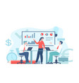 business workflow or teamwork process vector image vector image