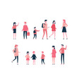 children - flat design style set of isolated vector image vector image