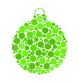 christmas bauble dotted design isolated on white vector image