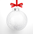 Christmas glass ball vector image vector image