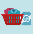 clothes plastic basket laundry service vector image