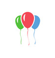 color inflatable balloons isolated on white vector image