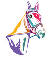 colorful decorative horse 1 vector image vector image
