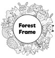 coloring book style frame with place for your text vector image vector image