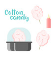 cotton candy set colorful constructor vector image vector image