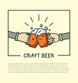 craft beer artisan creative stamp sign vector image