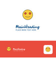 creative smiley emoji logo design flat color logo vector image