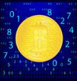 crypto currency golden coin abstract virtual vector image