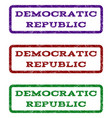 democratic republic watermark stamp vector image
