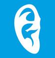 ear icon white vector image