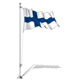 Flag Pole Finland vector image vector image