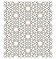 geometric arabesque seamless pattern line art vector image vector image