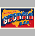 georgia usa 4th july retro style postcard vector image