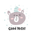 good night bear vector image vector image