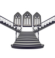 Gothic Stairs Interior5 vector image vector image