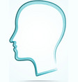 grungy human head icon vector image