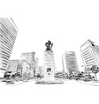 gwanghwamun square statue seoul vector image vector image