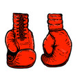 hand drawn of boxing gloves design element for vector image