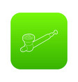 hashish pipe icon green vector image vector image