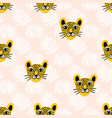 leopard jungle animal seamless pattern vector image vector image