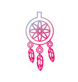 line cute dream catcher with feathers design vector image vector image