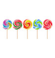 lollypops colorful realistic set vector image