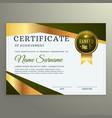luxury certificate template design in geometric vector image vector image