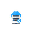 mainframe shared hosting icon vector image