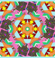 mandala colored tribal vintage background with a vector image vector image