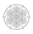 mandala coloring page flower design element for vector image vector image