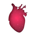 medical heart - paper on the grey vector image