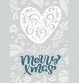 merry xmas scandinavian calligraphy vector image vector image