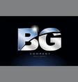 metal blue alphabet letter bg b g logo company vector image vector image