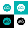 motorcycle scooter logo circle icon design vector image vector image