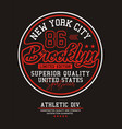 new york city brooklyn 86 typography usa style vector image vector image