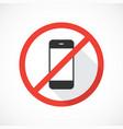 no cell phones icon vector image vector image