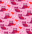 owl valentine pattern vector image vector image