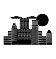 panorama picture of city skyline cloud sun vector image vector image