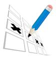 Pencil Check Option vector image vector image