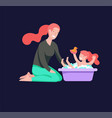 people character mother and daughter vector image