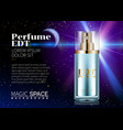 perfume design glass bottle cosmetics product vector image vector image
