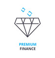 premium finance concept outline icon linear vector image vector image