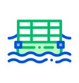 public transport cable ferry thin line icon vector image