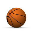 realistic basketball ball vector image