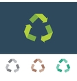 recycle sign for eco environments vector image vector image