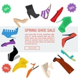 Round banner woman shoe sale vector image