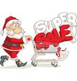 Santa Claus Super Sale Cartoon vector image vector image