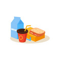 school lunch education design vector image